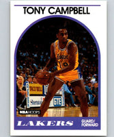 1989-90 Hoops #19 Tony Campbell RC Rookie Lakers NBA Basketball