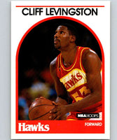 1989-90 Hoops #22 Cliff Levingston Hawks NBA Basketball
