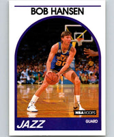 1989-90 Hoops #27 Bobby Hansen Jazz UER NBA Basketball