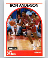 1989-90 Hoops #32 Ron Anderson 76ers NBA Basketball