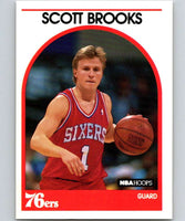 1989-90 Hoops #34 Scott Brooks RC Rookie 76ers NBA Basketball