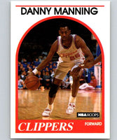 1989-90 Hoops #40 Danny Manning RC Rookie Clippers NBA Basketball