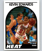 1989-90 Hoops #41 Kevin Edwards RC Rookie Heat NBA Basketball