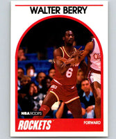 1989-90 Hoops #44 Walter Berry Rockets NBA Basketball