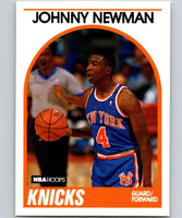1989-90 Hoops #58 Johnny Newman RC Rookie Knicks NBA Basketball