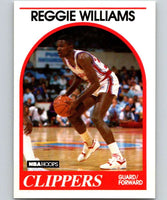 1989-90 Hoops #128 Reggie Williams RC Rookie Clippers NBA Basketball