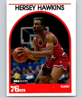 1989-90 Hoops #137 Hersey Hawkins RC Rookie 76ers NBA Basketball