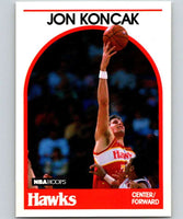 1989-90 Hoops #151 Jon Koncak RC Rookie Hawks NBA Basketball