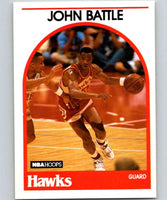 1989-90 Hoops #154 John Battle RC Rookie Hawks NBA Basketball