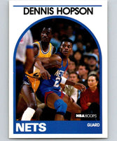 1989-90 Hoops #199 Dennis Hopson RC Rookie NJ Nets NBA Basketball