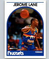 1989-90 Hoops #201 Jerome Lane RC Rookie Nuggets NBA Basketball