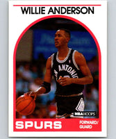 1989-90 Hoops #235 Willie Anderson RC Rookie Spurs NBA Basketball