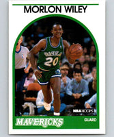 1989-90 Hoops #247 Morlon Wiley RC Rookie SP Mavericks NBA Basketball