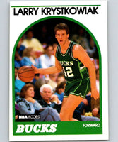 1989-90 Hoops #258 Larry Krystkowiak RC Rookie Bucks NBA Basketball