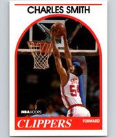 1989-90 Hoops #262 Charles Smith RC Rookie Clippers NBA Basketball
