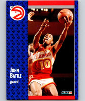 1991-92 Fleer #1 John Battle Hawks NBA Basketball