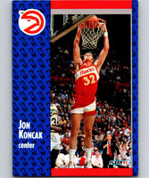 1991-92 Fleer #2 Jon Koncak Hawks NBA Basketball
