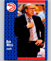 1991-92 Fleer #5 Bob Weiss Hawks CO NBA Basketball