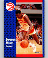 1991-92 Fleer #6 Dominique Wilkins Hawks NBA Basketball