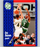 1991-92 Fleer #9 Dee Brown Celtics NBA Basketball