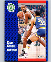 1991-92 Fleer #11 Kevin Gamble Celtics NBA Basketball