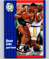 1991-92 Fleer #12 Reggie Lewis Celtics NBA Basketball