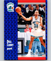 1991-92 Fleer #19 Dell Curry Hornets NBA Basketball