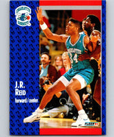 1991-92 Fleer #24 J.R. Reid Hornets NBA Basketball