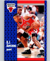 1991-92 Fleer #25 B.J. Armstrong Bulls NBA Basketball
