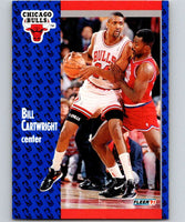 1991-92 Fleer #26 Bill Cartwright Bulls NBA Basketball