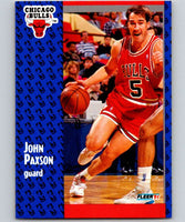 1991-92 Fleer #31 John Paxson Bulls NBA Basketball