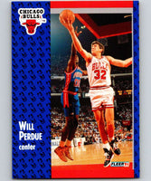 1991-92 Fleer #32 Will Perdue Bulls NBA Basketball