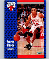 1991-92 Fleer #33 Scottie Pippen Bulls NBA Basketball