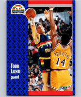 1991-92 Fleer #51 Todd Lichti Nuggets NBA Basketball
