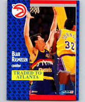 1991-92 Fleer #52 Blair Rasmussen Hawks NBA Basketball