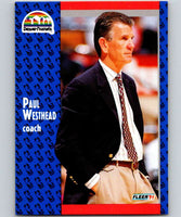 1991-92 Fleer #53 Paul Westhead Nuggets CO NBA Basketball