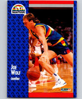 1991-92 Fleer #55 Joe Wolf Nuggets NBA Basketball