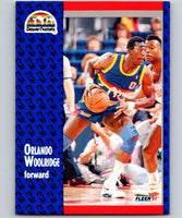 1991-92 Fleer #56 Orlando Woolridge Nuggets NBA Basketball