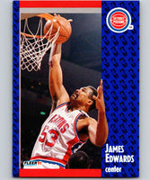 1991-92 Fleer #60 James Edwards Pistons NBA Basketball