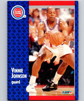1991-92 Fleer #61 Vinnie Johnson Pistons NBA Basketball