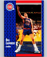 1991-92 Fleer #62 Bill Laimbeer Pistons NBA Basketball