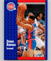 1991-92 Fleer #63 Dennis Rodman Pistons NBA Basketball