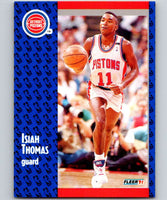 1991-92 Fleer #64 Isiah Thomas Pistons NBA Basketball