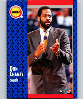 1991-92 Fleer #73 Don Chaney Rockets CO NBA Basketball