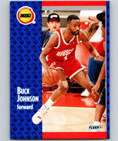 1991-92 Fleer #75 Buck Johnson Rockets NBA Basketball