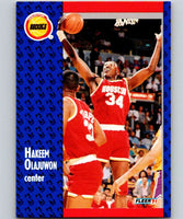 1991-92 Fleer #77 Hakeem Olajuwon Rockets NBA Basketball