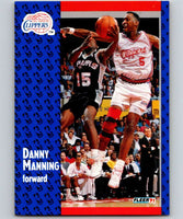 1991-92 Fleer #92 Danny Manning Clippers NBA Basketball