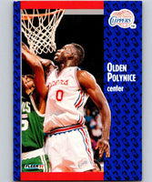 1991-92 Fleer #94 Olden Polynice Clippers NBA Basketball