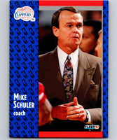 1991-92 Fleer #95 Mike Schuler Clippers CO NBA Basketball