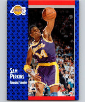 1991-92 Fleer #101 Sam Perkins Lakers NBA Basketball